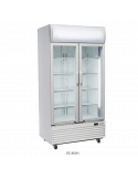 Expositor refrigerado 800 litros 2 puertas cristal abatible Cool Head DC800H