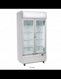 Expositor refrigerado 800 litros 2 puertas cristal pivotantes Cool Head DC800H