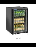 Expositor botellero refrigerado 1 puerta 60 litros alto 67 cm Cool Head RC60