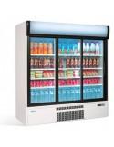 Nevera Expositor refrigerado 3 puertas cristal corredera ERC180 Infrico