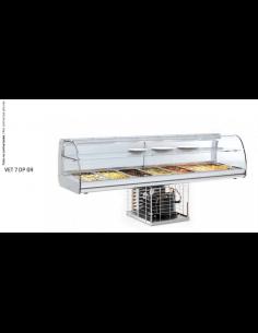 Vitrina encastrable tapas refrigerada 6 cubetas INFRICO VEB6CP