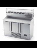 Bajomostrador compacto refrigerado pizzas fondo 700 ancho 146 cm INFRICO ME1003VIP