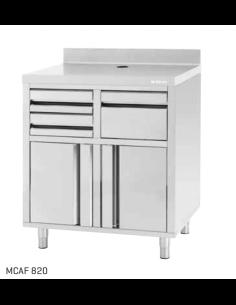 Mueble Cafetero Frente mostrador ancho 82 cm INFRICO MCAF 820