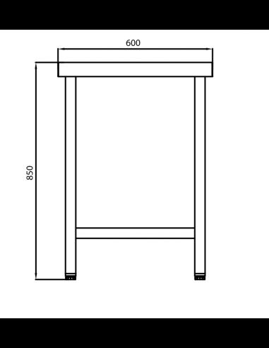 Oferta Mueble ENCIMERA 100 /% INOXIDABLE 100 x 60 x 85cm BORDE DE PROTECCION