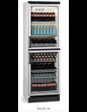 Expositor botellero refrigerado vertical 2 medias puertas cristal 350 litros EUROFRED FKG371/2P