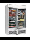 Expositor refrigeración y congelación 730 litros 2 puertas cristal Isa Tornado V100BT-TN