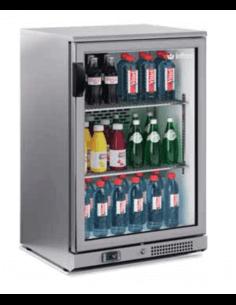 Expositor botellero frigorífico INFRICO acero inoxidable 1 puerta cristal ERV15II