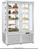 Expositor refrigeración y congelación pastelería 4 caras cristal 800 litros EUROFRED Prisma 800 TN/BT
