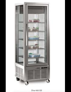 Expositor congelación pastelería 4 caras cristal 450 litros TECFRIGO Diva 450 BTV BIS
