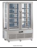 Expositor bitemperatura 4 caras cristal 2 puertas 1000 litros TECFRIGO Snelle 1010GBT