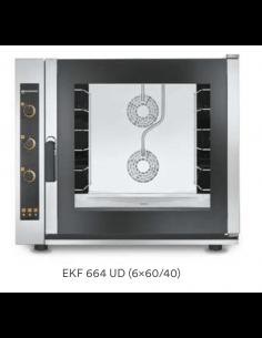 Horno eléctrico pastelería 6 bandejas 60x40 con humidificador Eurofred EKF664UD