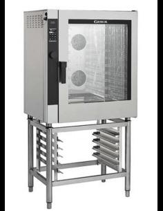 Horno eléctrico digital con lavado y vapor directo 10 bandejas 60x40 Giorik Easy Air Touch Screen ETE10W