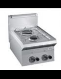 Cocina sobremesa a gas 2 fuegos fondo 60 cm DEXION MG40