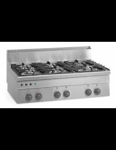 Cocina sobremesa a gas 6 fuegos fondo 60 cm EUROFRED MG100