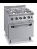 Cocina a gas 4 fuegos y horno fondo 70 cm Dexion MG7-70