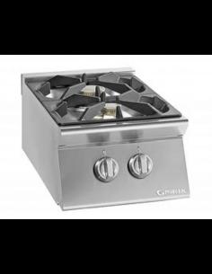Cocina sobremesa a gas 2 fuegos fondo 70 cm Giorik Unika 700 ECG720T