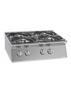 Cocina sobremesa a gas 4 fuegos fondo 70 cm Giorik Unika 700 ECG740T