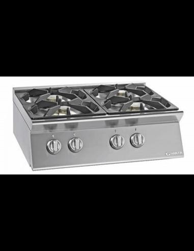 Cocinas De Gas Pequenas.Cocina Sobremesa A Gas 4 Fuegos Fondo 70 Cm Giorik Unika 700 Ecg740t