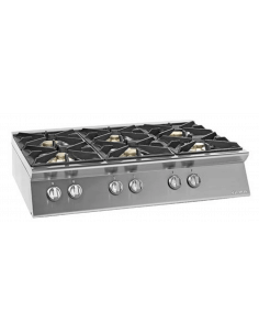 Cocina sobremesa a gas 6 fuegos fondo 70 cm Giorik Unika 700 ECG760T