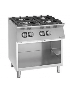 Cocina a gas con mueble 4 fuegos fondo 70 cm Giorik Unika 700 ECG740G