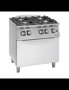 Cocina a gas 4 fuegos con...