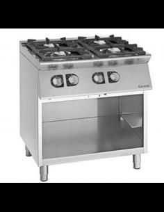 Cocina a gas con mueble 4 fuegos fondo 90 cm Giorik Unika 900 CG940G