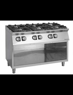 Cocina a gas con mueble 6 fuegos fondo 90 cm Giorik Unika 900 CG960G