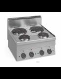 Cocina sobremesa eléctrica 4 fuegos fondo 60 cm Dexion ME60