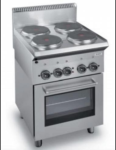 Cocina Hosteleria Electrica Con Horno 4 Fuegos Dexion Me60h