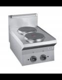 Cocina sobremesa eléctrica 2 fuegos fondo 70 cm Dexion ME7-40