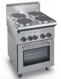 Cocina eléctrica con horno 4 fuegos fondo 70 cm Dexion ME7-70H