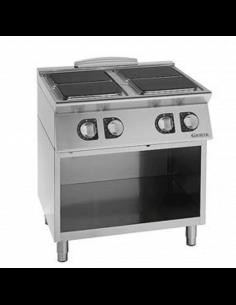 Cocina eléctrica 4 fuegos...