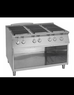 Cocina eléctrica 6 fuegos...