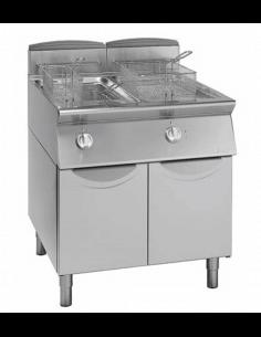 Freidora eléctrica 21+21 litros con mueble fondo 900 GIORIK FE9221