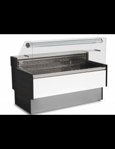Vitrina expositora refrigerada cristal recto con almacén Eurofred Kibuk VD