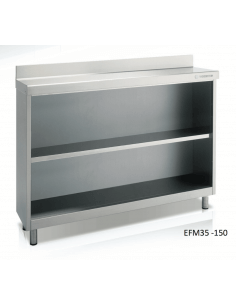 Estantería frente mostrador cafetero ancho 150 cm fondo 60 CORECO EFM60-150