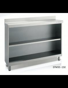 Estantería frente mostrador cafetero ancho 150 cm fondo 35 CORECO EFM35-150