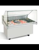 Vitrina refrigerada expositora pescadería ancho 132 cm Infrico VRP13