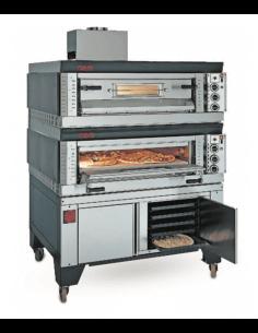 Horno de pizza a gas modular 2 cámaras 18 pizzas OEM SG99/2