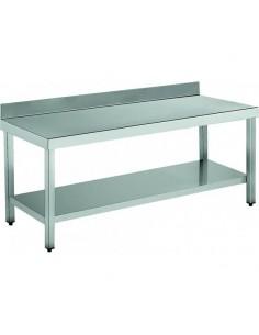 Mesa de trabajo inoxidable con estante ancho 150 cm FRIGERIA MNP1500
