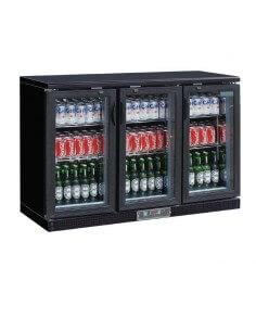 Botellero expositor refrigerado ancho 135 cm 3 puertas cristal BBT350