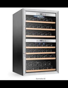 Vinoteca refrigerada 66 botellas 2 temperaturas Tecfrigo Sommelier 63