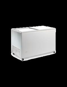 Congelador ancho128 cm tapa ciega corredera EUROFRED ICE400NTOS