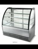 Vitrina refrigerada expositora autoservicio cristal curvo ISA Metro